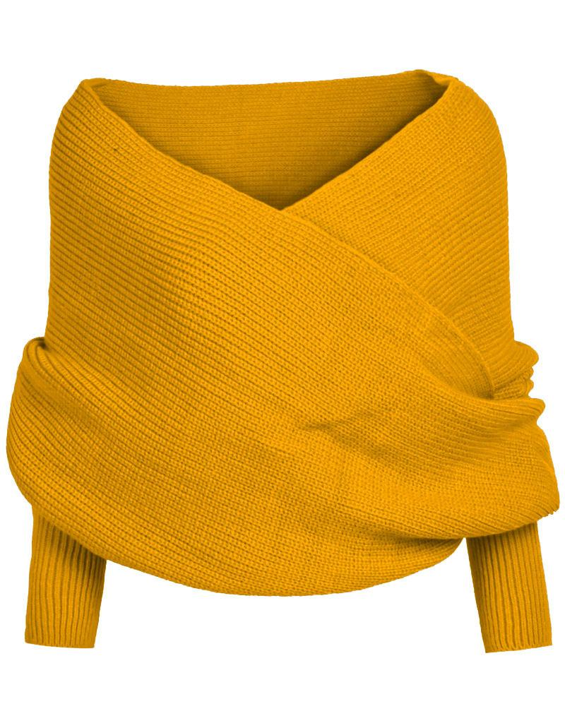 🔥(HOT SALE)50% OFF-Knitted Wrap Scarf With Sleeves(Buy 2 Free shipping)