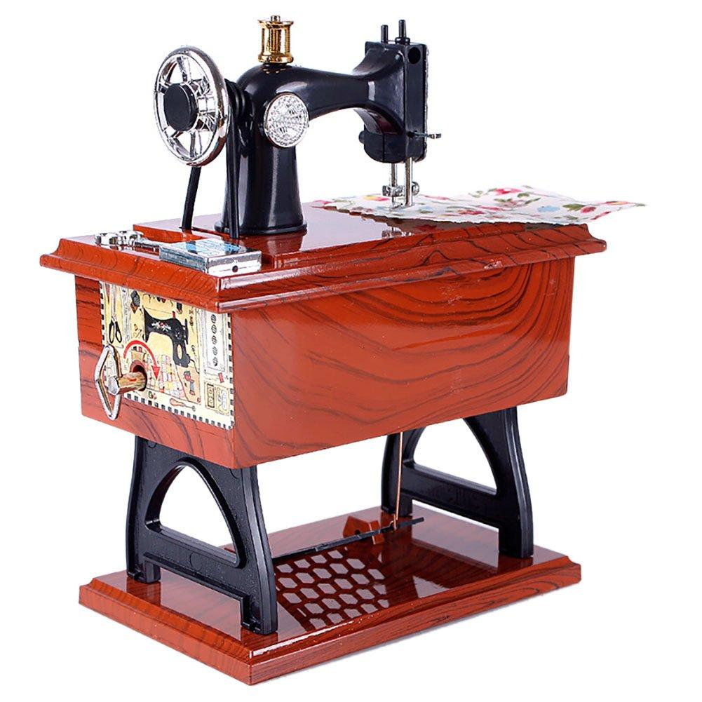 Classical Sewing Machine Music Box Desk Decor