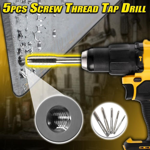 5pcs Screw Thread Tap Drill