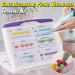 Cake Decorating Piping Techniques Training Kit