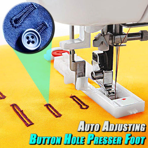 Auto Adjusting Buttonhole Presser Foot