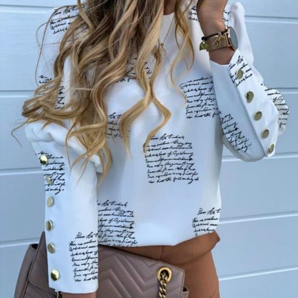 Women Blouses Letter Print Shirts | Women Blouses Casual Shirts |