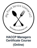 HACCP Manager Certificate (Online Course) - My Food Service License