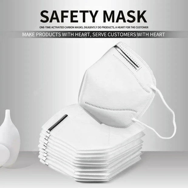 Multi Layer Protective Disposable Kn95 Face Mask | Safe with Mask
