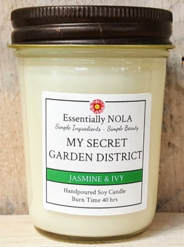 Candle - My Secret Garden District Soy Candle