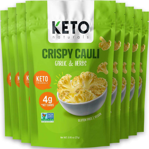 Keto Cauli Chips, Garlic & Herbs