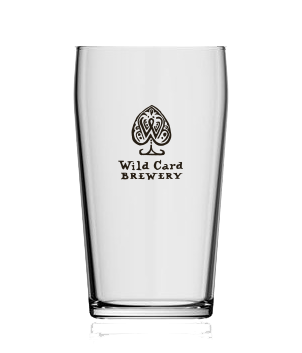 Wild Card Brewery Pint Glass