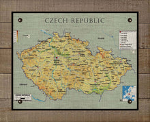 Load image into Gallery viewer, 1900s  Czech Republic Map On 100% Natural Linen