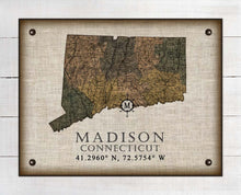 Load image into Gallery viewer, Madison Connecticut Vintage Design On 100% Natural Linen
