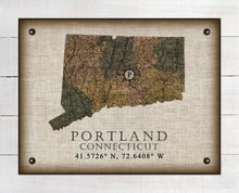 Load image into Gallery viewer, Portland Connecticut Vintage Design On 100% Natural Linen