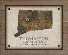 Load image into Gallery viewer, Thomaston Connecticut Vintage Design On 100% Natural Linen