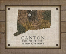 Load image into Gallery viewer, Canton Connecticut Vintage Design On 100% Natural Linen