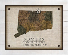 Load image into Gallery viewer, Somers Connecticut Vintage Design On 100% Natural Linen