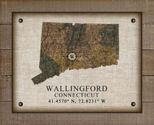 Load image into Gallery viewer, Wallingford Connecticut Vintage Design On 100% Natural Linen