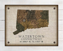 Load image into Gallery viewer, Watertown Connecticut Vintage Design On 100% Natural Linen