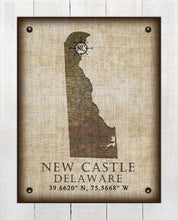 Load image into Gallery viewer, New Castle Delaware Vintage Design - On 100% Natural Linen
