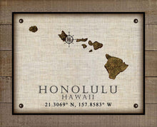 Load image into Gallery viewer, Honolulu Hawaii Vintage Design - On 100% Natural Linen