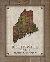 Load image into Gallery viewer, Brunswick Maine Vintage Design On 100% Natural Linen