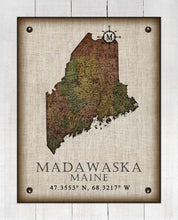 Load image into Gallery viewer, Madawaska Maine Vintage Design On 100% Natural Linen