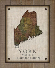 Load image into Gallery viewer, York Maine Vintage Design On 100% Natural Linen