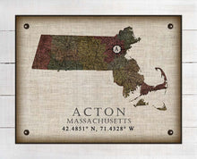 Load image into Gallery viewer, Acton Massachusetts Vintage Design On 100% Natural Linen