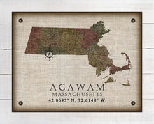Load image into Gallery viewer, Agawam Massachusetts Vintage Design On 100% Natural Linen