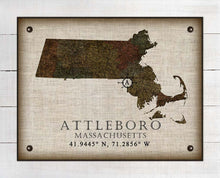Load image into Gallery viewer, Attleboro Massachusetts Vintage Design On 100% Natural Linen
