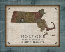 Load image into Gallery viewer, Holyoke Massachusetts Vintage Design - On 100% Natural Linen