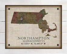 Load image into Gallery viewer, Northampton Massachusetts Vintage Design - On 100% Natural Linen