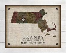 Load image into Gallery viewer, Granby Massachusetts Vintage Design On 100% Natural Linen