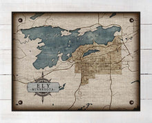 Load image into Gallery viewer, Ely Minnesota Map - On 100% Natural Linen