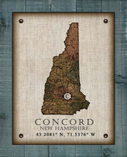 Load image into Gallery viewer, Exeter New Hampshire Vintage Design - On 100% Natural Linen