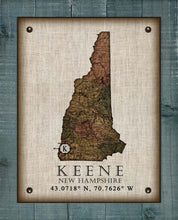 Load image into Gallery viewer, Keene New Hampshire Vintage Design - On 100% Natural Linen
