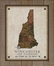 Load image into Gallery viewer, Winchester New Hampshire Vintage Design - On 100% Natural Linen