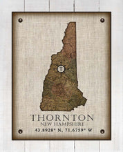 Load image into Gallery viewer, Thorton New Hampshire Vintage Design - On 100% Natural Linen