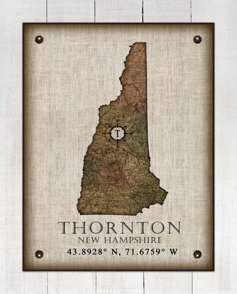 Thorton New Hampshire Vintage Design - On 100% Natural Linen