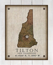Load image into Gallery viewer, Tilton New Hampshire Vintage Design - On 100% Natural Linen