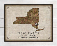 Load image into Gallery viewer, New Paltz New York Vintage Design - On 100% Natural Linen