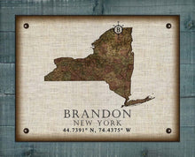 Load image into Gallery viewer, Brandon New York Vintage Design - On 100% Natural Linen