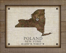 Load image into Gallery viewer, Poland New York Vintage Design - On 100% Natural Linen