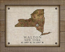Load image into Gallery viewer, Walton New York Vintage Design - On 100% Natural Linen