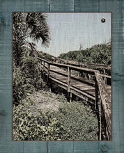 Load image into Gallery viewer, Beach Boardwalk 2  - On 100% Natural Linen