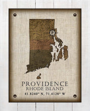 Load image into Gallery viewer, Providence Rhode Island Vintage Design - On 100% Natural Linen
