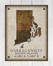 Load image into Gallery viewer, Narragansett Rhode Island Vintage Design - On 100% Natural Linen