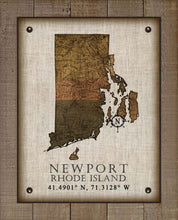 Load image into Gallery viewer, Newport Rhode Island Vintage Design - On 100% Natural Linen