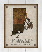 Load image into Gallery viewer, Charlestown Rhode Island Vintage Design - On 100% Natural Linen