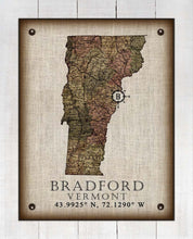 Load image into Gallery viewer, Bradford Vermont Vintage Design - On 100% Natural Linen