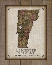 Load image into Gallery viewer, Leicester Vermont Vintage Design - On 100% Natural Linen