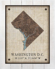 Load image into Gallery viewer, Washington DC Vintage Design - On 100% Natural Linen