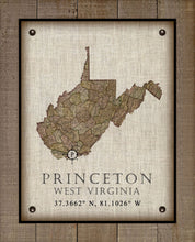 Load image into Gallery viewer, Princeton West Virginia Vintage Design - On 100% Natural Linen